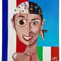 autoritratto -50x60 acrilico - 2005