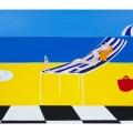 donna in spiaggia -122x76 olio - 2011