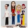 donne in amiglia -40x40  acrilico-2011