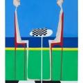 gli scacchi - 60x90 olio- 2011