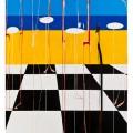 il dobermann 100x150  acrilico  2012