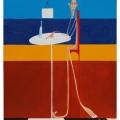 il critico d\'arte 35x50  acrilico 2012