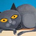 gatto Jeanwalter 2017 acrilico 10 x 15