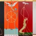 polittico -tarocchi/arcani maggiori -440x50 acrilico- 2012