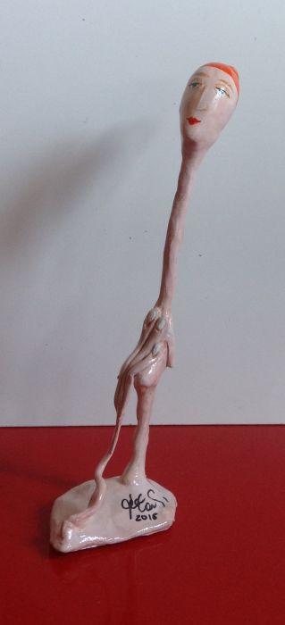 busto di donna con chignon h18 x l4 xp 6